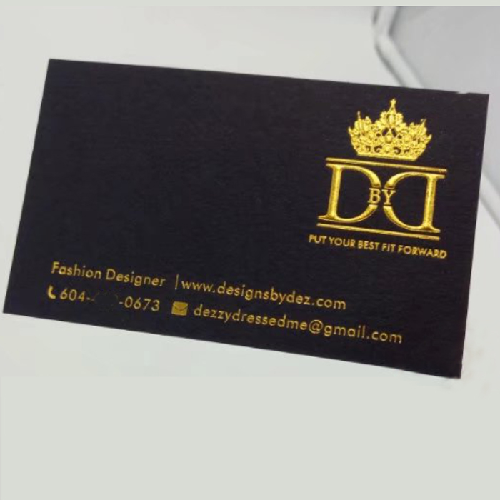 custom gold foil letterpress business card printing