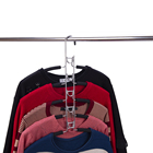Hanger Clothes For Clothes Hanger Clothes Rack XUNZE 2021 Magic Curve Foamed Metal Hanger Detachable Space Saving 5 Layered Clothes Organizer Rack For Pants Jeans Trousers