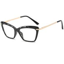 SO & EI, ретро, кошачий глаз, прозрачные, с разноцветными кристаллами, женские очки, оправа может быть оснащена близорукостью, мужские очки по р...(Китай)