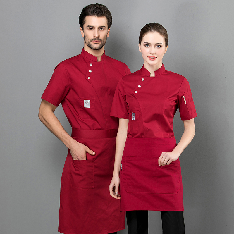 Wholesale Chef Clothes Unisex Restaurant Uniform Kitchen Waiter Waitress Cook Shirt Hotel Barber Dessert Cake Shop Work Overalls