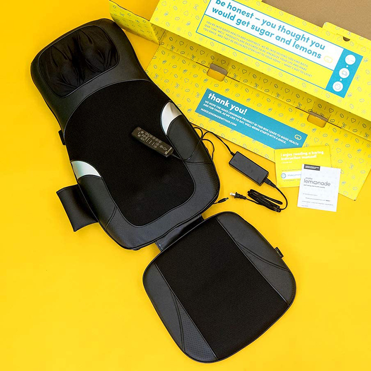 Customizable Multiple Zone Neck & Back Massage Chair with air compress massage cushion