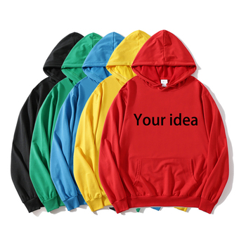 Custom logo Fashion Long Sleeve Top Pullover mens hoodies & sweatshirts blank hoodies