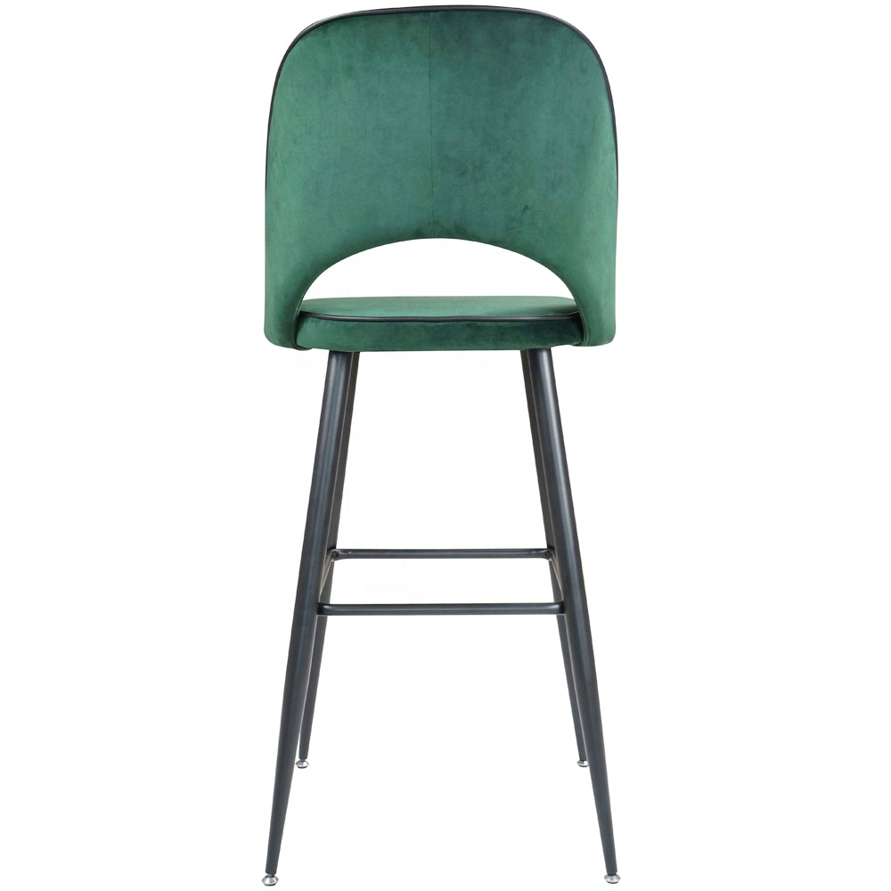 Velvet Metal Leg Hotel Lobby Party Club Test Passed Bar Chair
