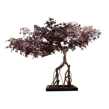Factory 2021 hot sale 350cm artificial maple tree autumn tree with special shape for decoration