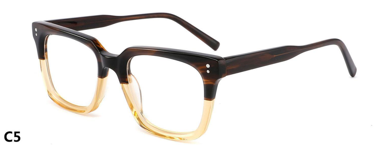 New fashion Model Optical Frame high quality real acetate glasses can be sunglasses blue block optical P21001