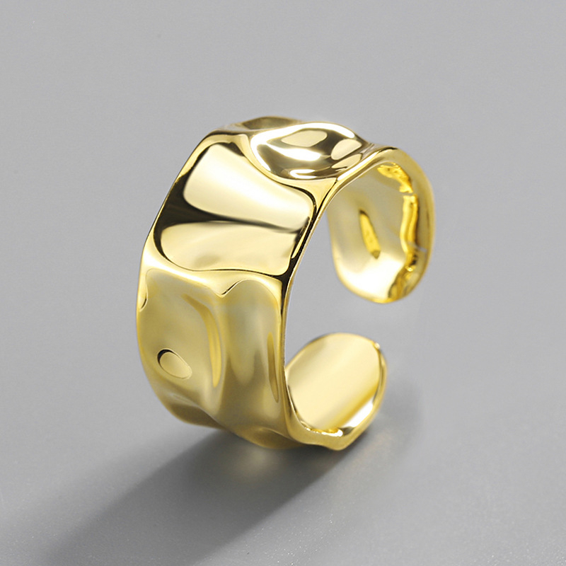Irregular Concave and Convex White Gold and Gold Bracelets Minimalist Gold Plated Bracelets Fashionable Bracelets Silver Bracelets
