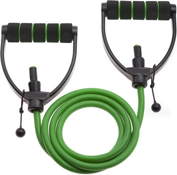 Brand New Green Latex Foam Comfortable handle resistance bands resistance Tubing
