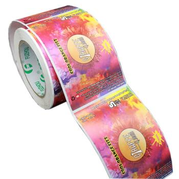 Custom Printed cheap Waterproof Synthetic Paper Self Adhesive Cosmetic Product Packaging Bottle roll Label Sticker printing