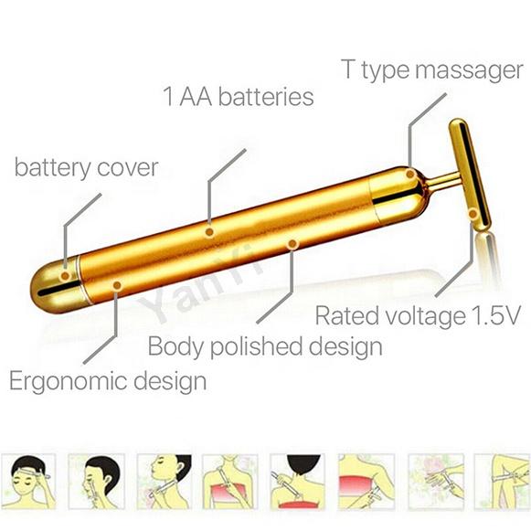 YanYi Вибрирующая Косметическая балка для массажа лица, энергетическая балка для красоты