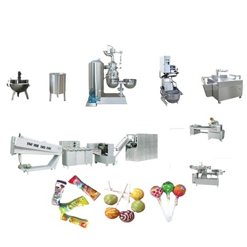 Full automatic small industrial lollipop candy making machine