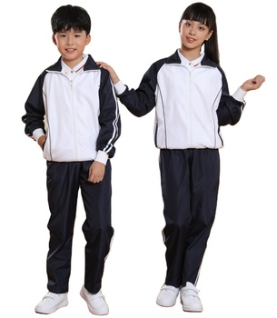 OEM custom design Primary Middle High School Uniforms sports track suit wear for students