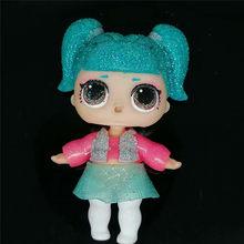 1 шт. Оригинальная кукла с надписью «LOLs Surprise», меняющая цвет, с номером на спине, Ограниченная Коллекция для девочек, Рождественский подарок(Китай)
