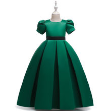 Платье с цветочным узором для девочек 2020 г., Открытое платье с цветочным рисунком на спине для девочек высококачественное свадебное платье ...(Китай)