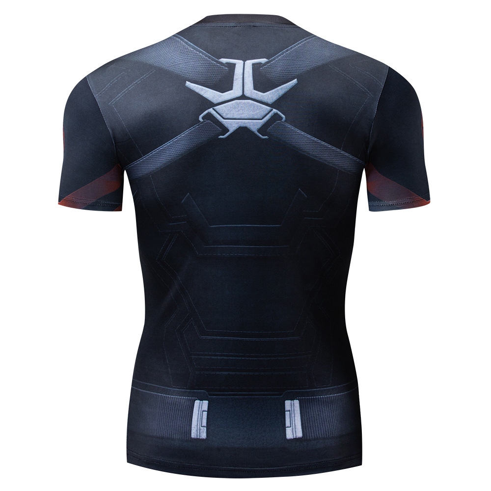 2021 Summer Digital 3d Fashion Breathable Quick-Drying Top Outdoor Sports Fitness Clothing Men