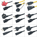 Extension Custom Length/Color Ac Extension Cable 10a 250v BSI 3 Pin Female Connector Plug C13 Uk Power Cord