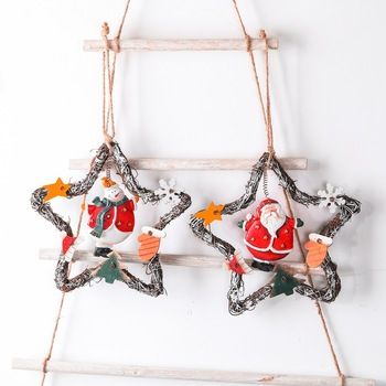 Christmas tree wooden decoration Christmas pendant make your home a new fresh look hand painted and cast in quality resin