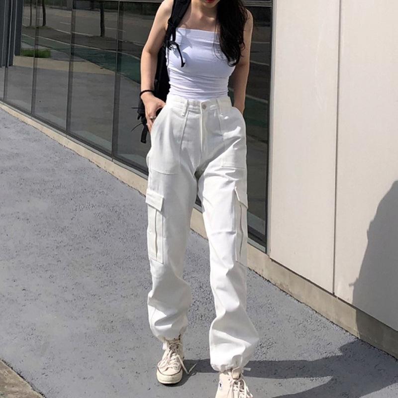 Pantalones Y Pantalones De Trabajo Para Mujer Largos Blancos Multibolsillos Buy Pantalones De Las Mujeres Pantalones Pantalones De Las Mujeres Product On Alibaba Com