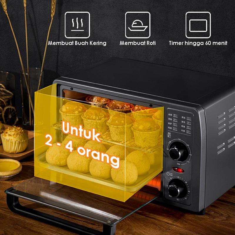 Многофункциональная Бытовая духовка для выпечки KONKA 13L, долговечная мини-духовка с интеллектуальным таймером для выпечки/сушеных фруктов/барбекю, выпечки хлеба