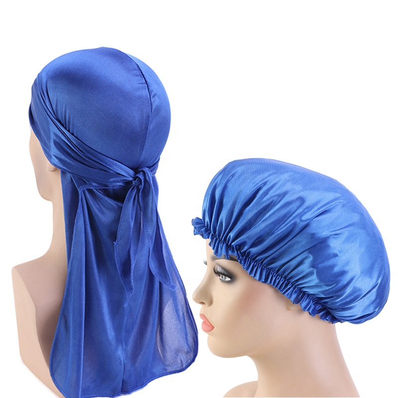 OEM factory directly sell cheap price matching bonnet silky headband designer bonnets and durags satin bonnet