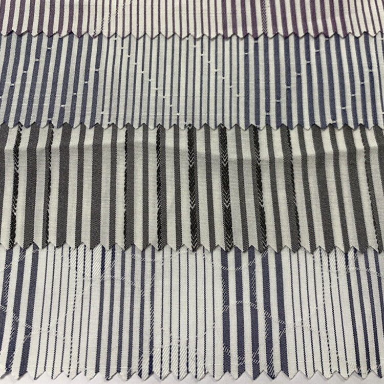 В наличии, для рубашек и одежды, окрашенная пряжа, текстильная ткань, тканая Полиэфирная/хлопчатобумажная полоса