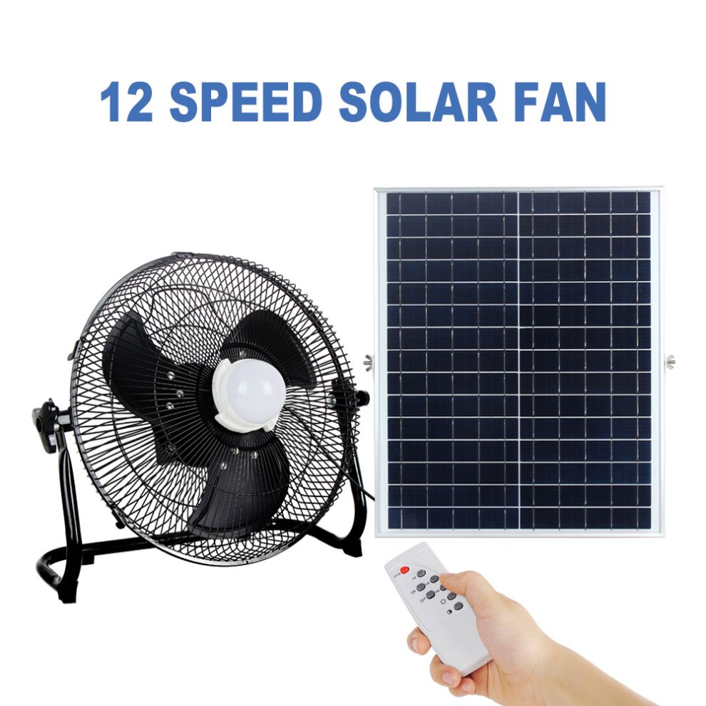 12V 4Ah Ternary Lithium Battery Solar Rechargeable Water Mist Fan With Warehouse