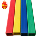 Profile Plastic Price Profile Custom Wholesale Plastic ABS Square Pipe Colorful Extrusion PVC Profile Tubes