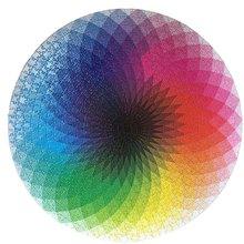 Gradient Puzzle 1000 шт пазлов градиентные радужные круглые сложные и сложные для взрослых декомпрессионные Пазлы(Китай)