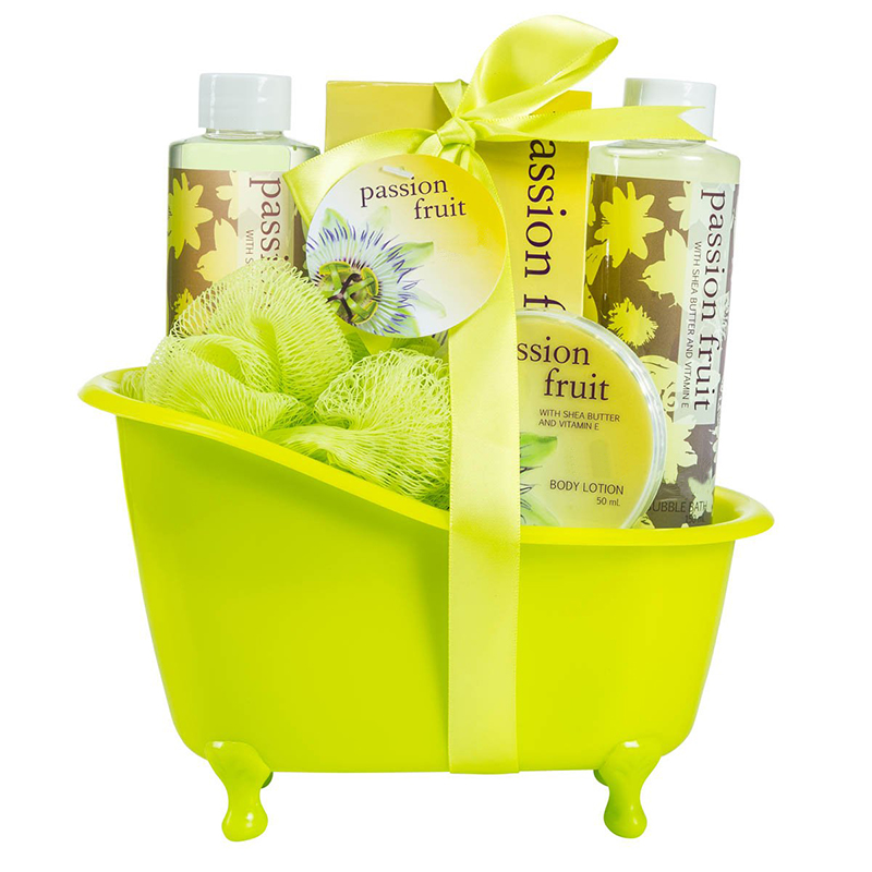 Custom Personal Care Home Hotel body lotion Shower Bath Spa Gift Set With bath slat Loofah Bubble Shower Gel For Women