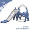Blue baby slide swing