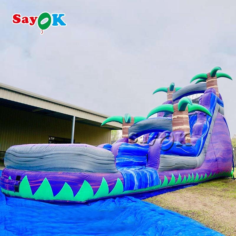 Большая портативная водная горка из ПВХ для детей, надувная горка для прыжков в джунглях
