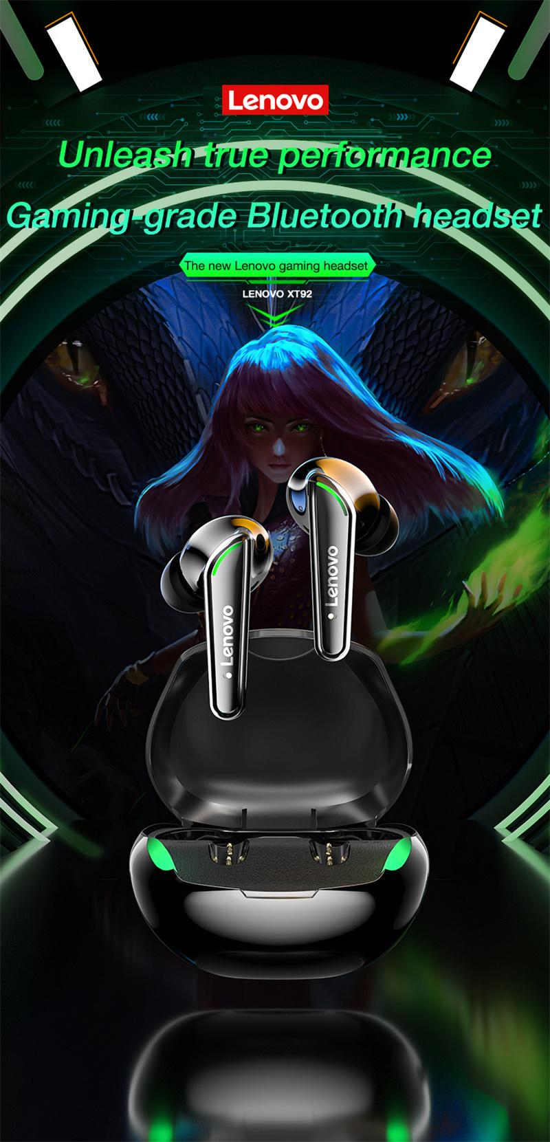 Lenovo XT92 Gaming Snake Bluetooth Earphone Wireless 9