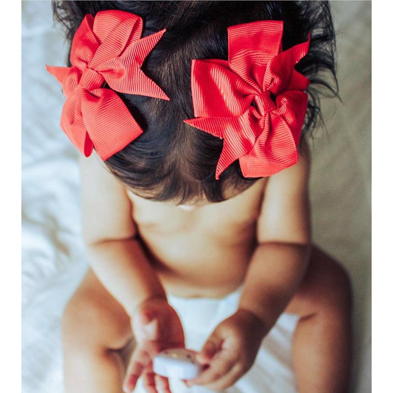 Baby Girls Bows Hair Clips Newborn Kids Ribbon Big Bowknot Toddler Girls Hair Accessories