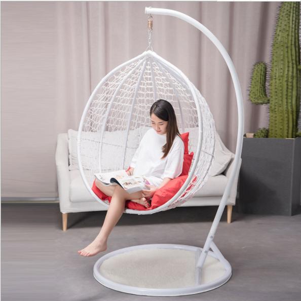 Модная садовая мебель, плетеное яйцо из ротанга, подвесное комнатное кресло-качалка с подставкой
