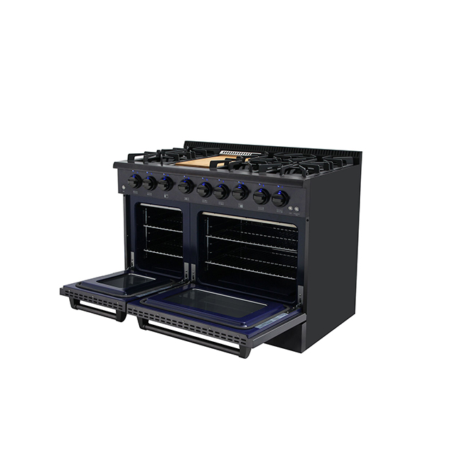 New Best 2019 48 Inch Gas Range With Double Oven in Stainless Steel
