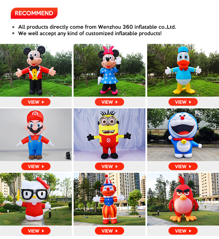 Fixed Lovely Inflatable Advertising Sponge Cartoon, Giant Customized factory price Inflatable mascot cute Spongebob for sale