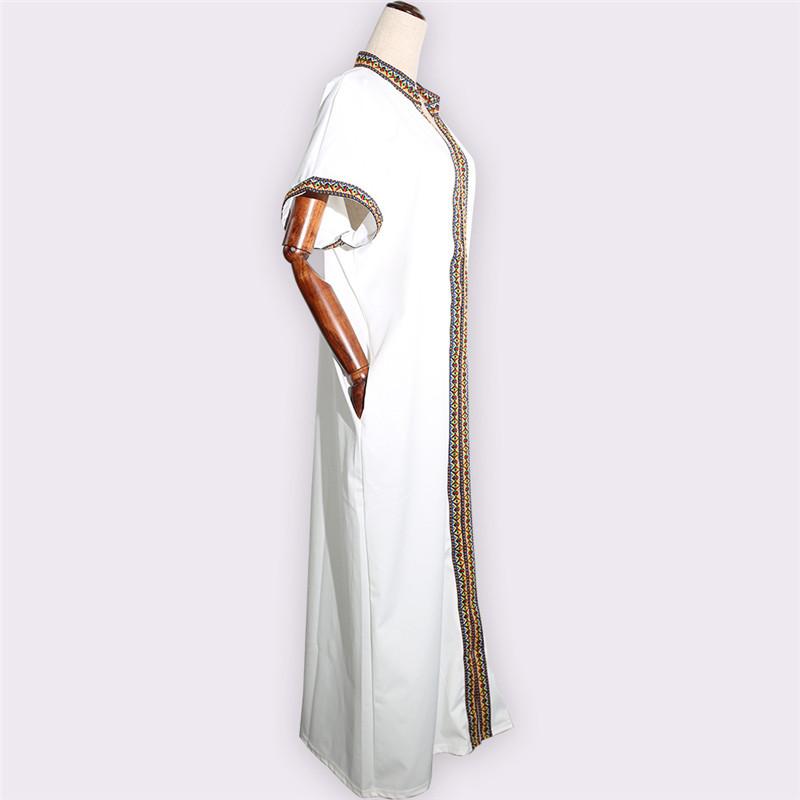 Женское хлопковое платье большого размера, разноцветное длинное прямое Повседневное платье, свободная африканская одежда, африканские платья
