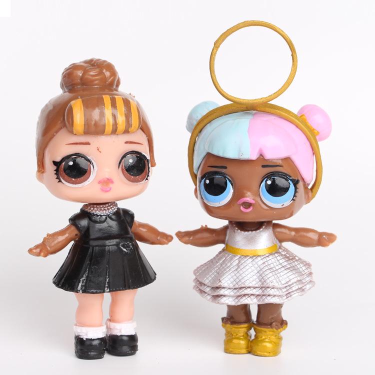 Лидер продаж на Amazon, набор из 8 кукол из ПВХ, куклы, игрушки, украшения, фигурки героев, куклы для сестры, игрушечный мяч