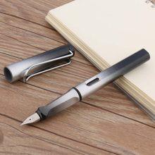 Роскошная Качественная новая пластиковая длинная перьевая ручка 08, градиентные цветные чернильные ручки EF/F, каллиграфическая ручка, офисн...(Китай)
