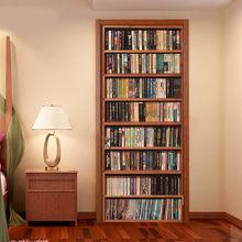 77x200 см 3D винтажная книжная полка винный шкаф дверь наклейка для гостиной спальни ПВХ клейкая дверь обои домашний декор z1217 #4(Китай)