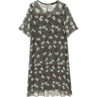 Dresses Silk Dress New Fashion Dresses 2021 Women Printed Loose Large Size Silk Mid-Length Elegant Women Casual Dress T123350