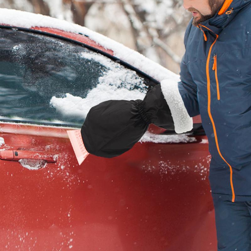 Tool Accessories Ice Scraper With Glove Car Windshield Snow Scrapers Shovel Winter Cars Snow Car Ice Scraper Hand Mitts