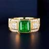 18k gold 3.79ct natural emerald rings