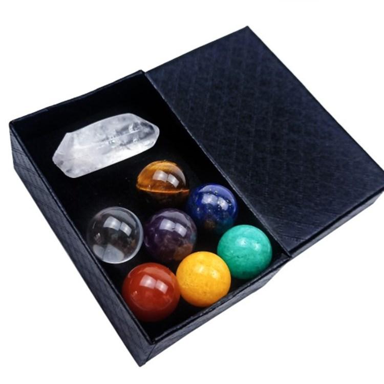 Hot sell Reiki Healing Crystals Seven Chakra Healing Stones Meditation Crystals Healing Stones Set With Gift Box