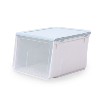 Strong Stackable Drop Front Plastic Organizer Storage Transparent Shoe Clear Plastic Box