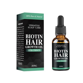 All natural formula human hair growth oil with hair extension tools