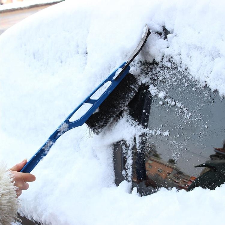 Durable plastic long handle snow brush with ice scraper