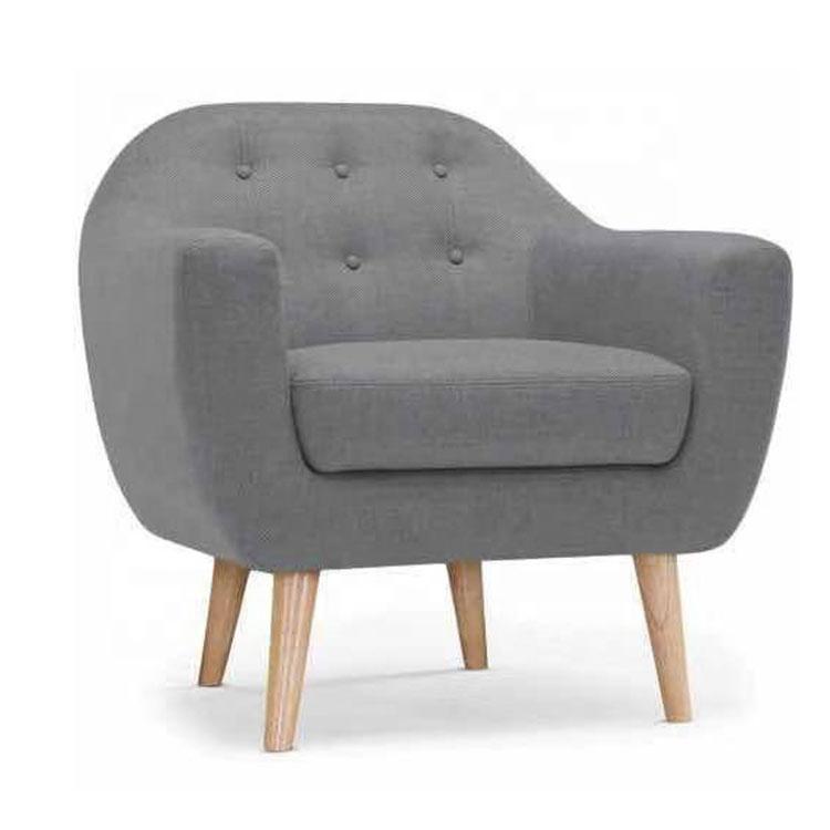 cheap Modern single fabric small sofa living room bedroom hotel sofa set