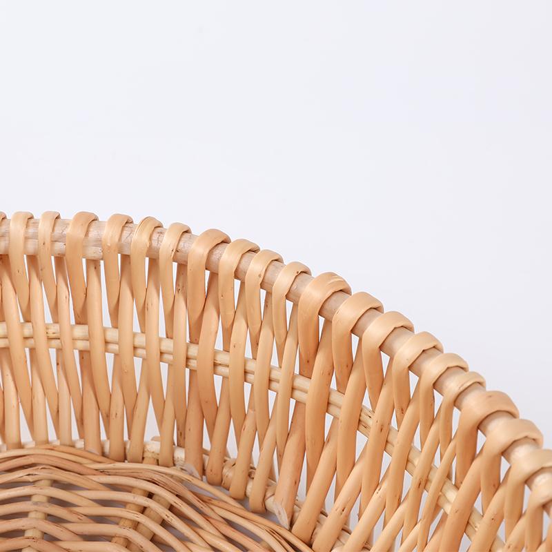 Бамбуковая круглая корзина для хранения фруктов из ротанга по выгодной цене