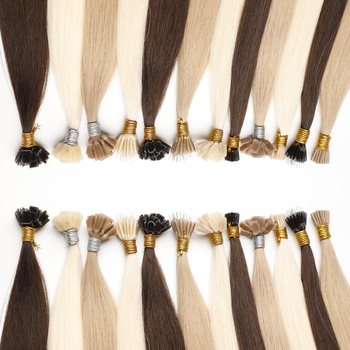 Wholesale Remy Russian 2gram u Tip Human Hair Sale Highlights Double Drawn i-Tip Flat Hair Straight i Tip Hair Extension