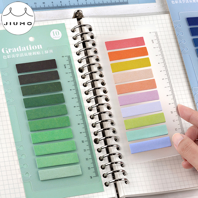 100 pcs Gradient Color Creative Office Novelty Sticky Notes Planner Stickers Page Index Post Office School Supplies Stationery